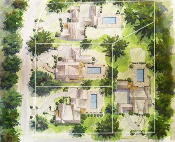 Chastain Place Siteplan by Monte Hewett Homes