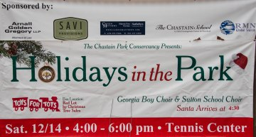 Holidays in the Park Sign