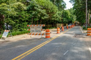 Sandy Springs Sewer Work on Powers Ferry Road