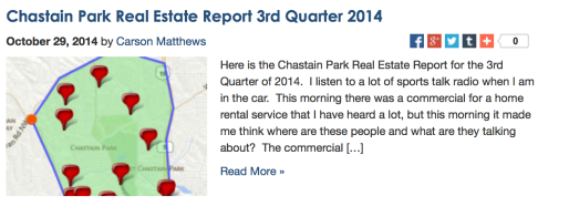 Chastain Park Real Estate Report