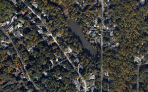 Map of Lake Forrest Dam Chastain Park